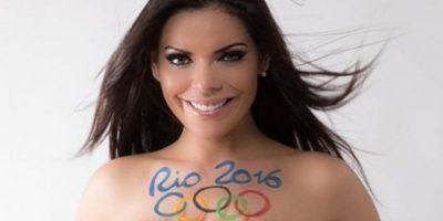 Miss Bumbum hace un homenaje olímpico con un sensual body painting