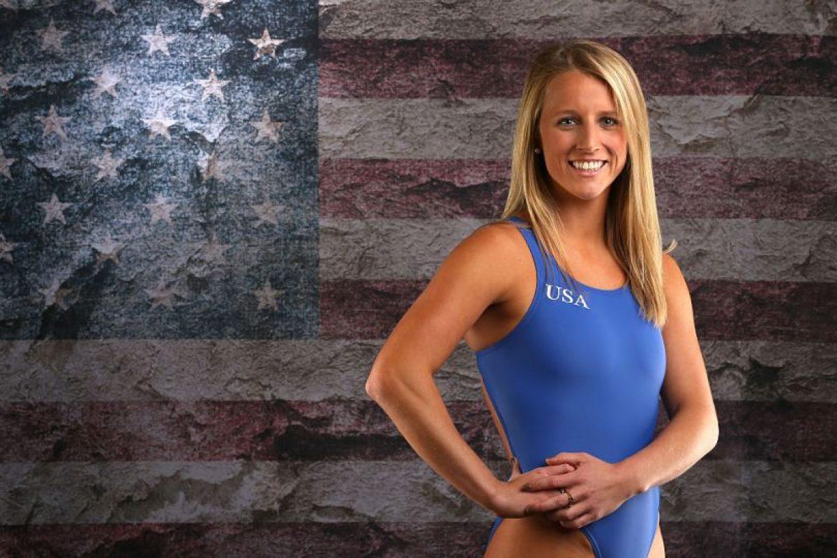 Abigail Johnston, del equipo de nado sincronizado de Estados Unidos, quiere el popular juego en la Villa Olímpica Foto:Getty Images