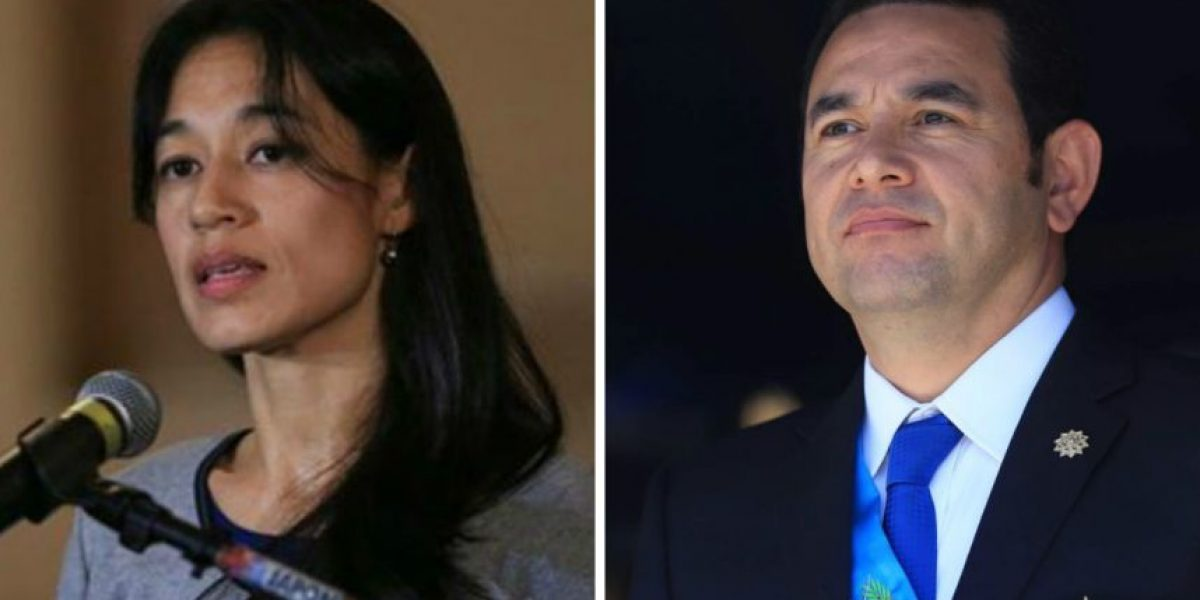 Así interactúan en Facebook el presidente Jimmy Morales y su nueva ministra de Salud
