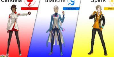 Estos son los diversos equipos y sus líderes. Foto:Pokémon Go