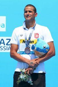 Oussama Mellouli. El primero en ser campeón olímpico en piscina y aguas abirtas fue suspendido 18 meses en 2007, por consumo de anfetaminas. Foto:Getty Images