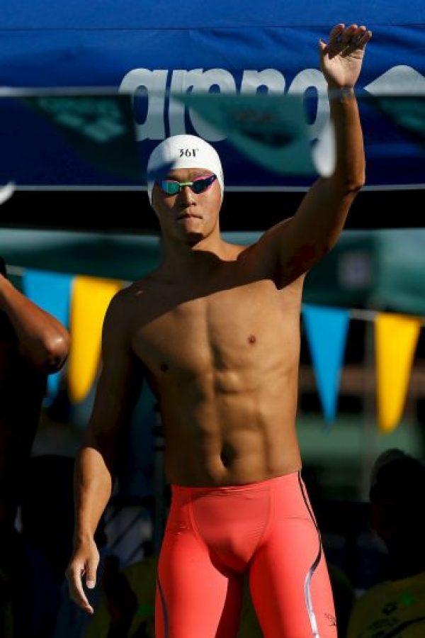 Sun Yang. El ganador de oro en los 400 y mil 500 metros en nado estilo libre en Londres 2012, fue sancionado hace dos años con tres meses por dar positivo de trimetazidina Foto:Getty Images
