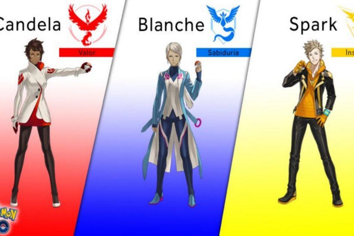 Estos son los equipos que pueden elegir en el juego. Foto:Pokémon Go