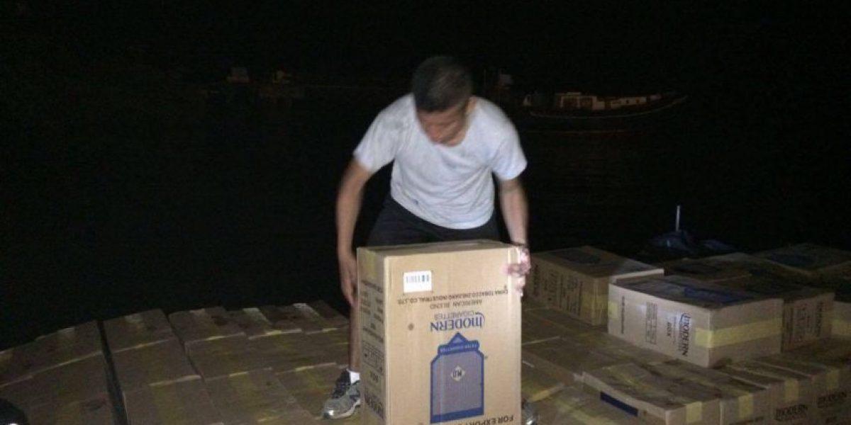 Interceptan lancha con cigarrillos de contrabando en Punta de Palma