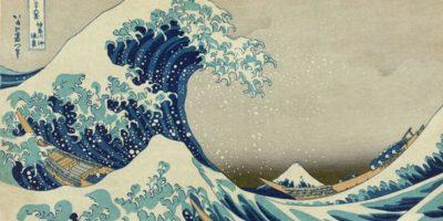 En Japón esta obra del periodo Edo muestra cómo han sido los tsunamis que siempre han asolado al país. Foto:vía Wikipedia