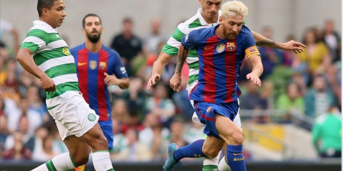 Messi estrena su look con el primer partido del Barcelona