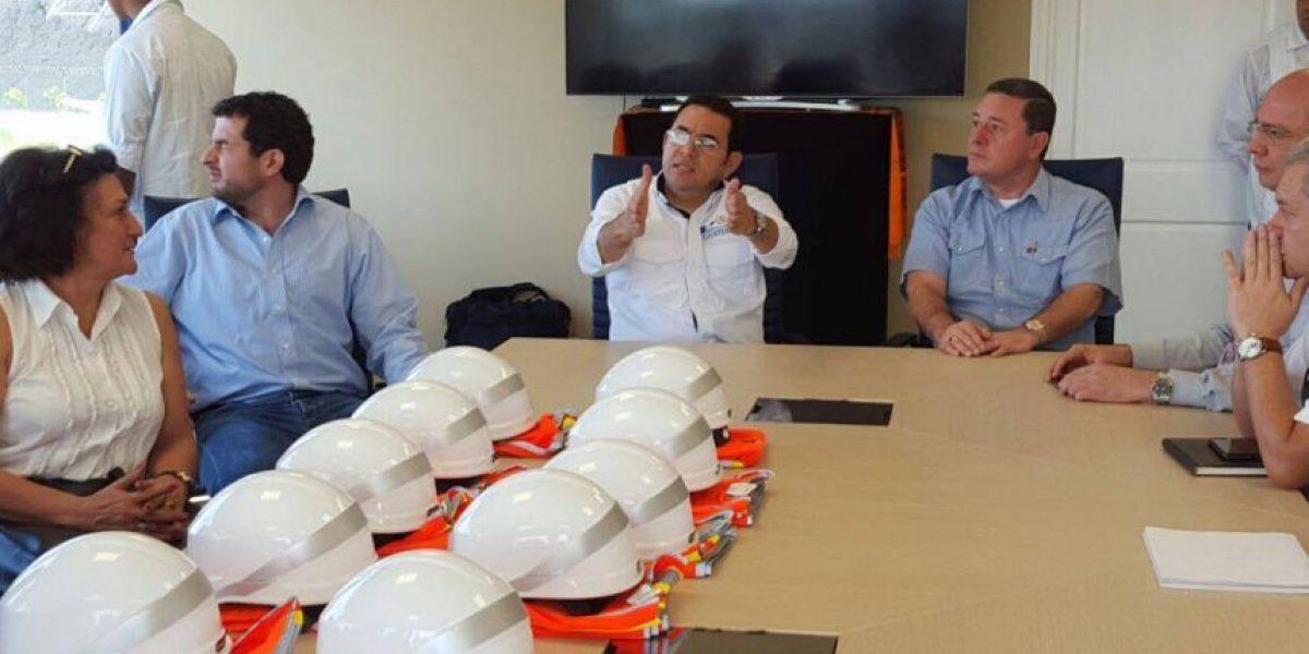 Jimmy Morales visita TCQ en medio de discusión por propuesta del interventor
