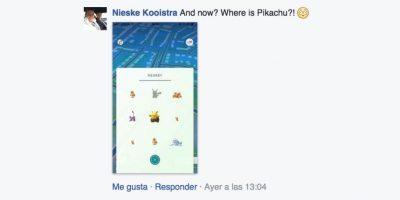 """""""¿Y ahora? ¿En dónde está Pikachu?"""" Foto:Facebook"""
