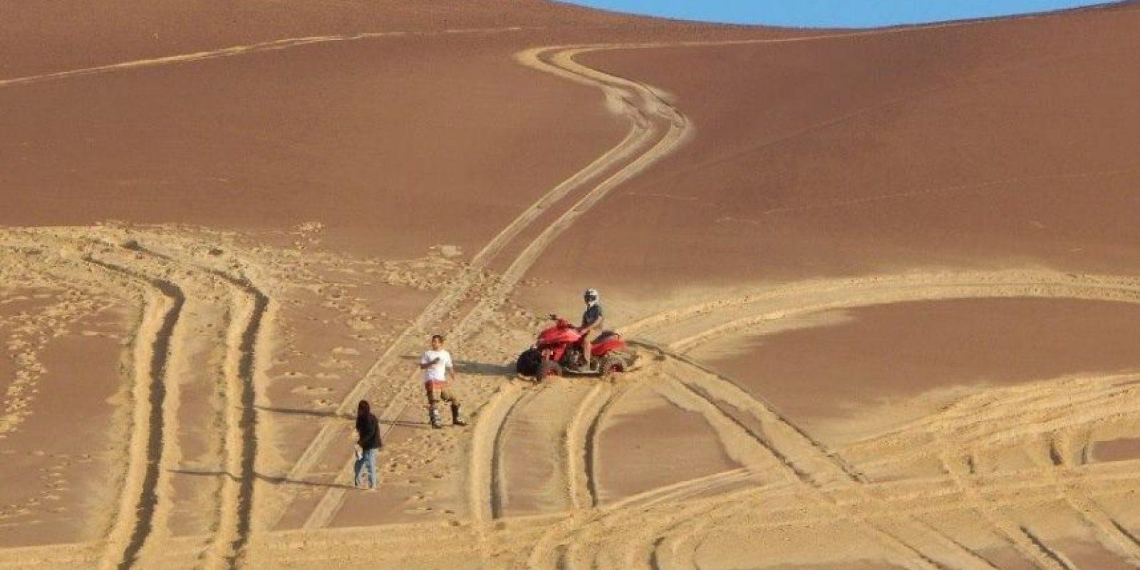 Utilizaron diversos vehículos para dañar la zona Foto:Facebook.com/Sernanp-Oficial