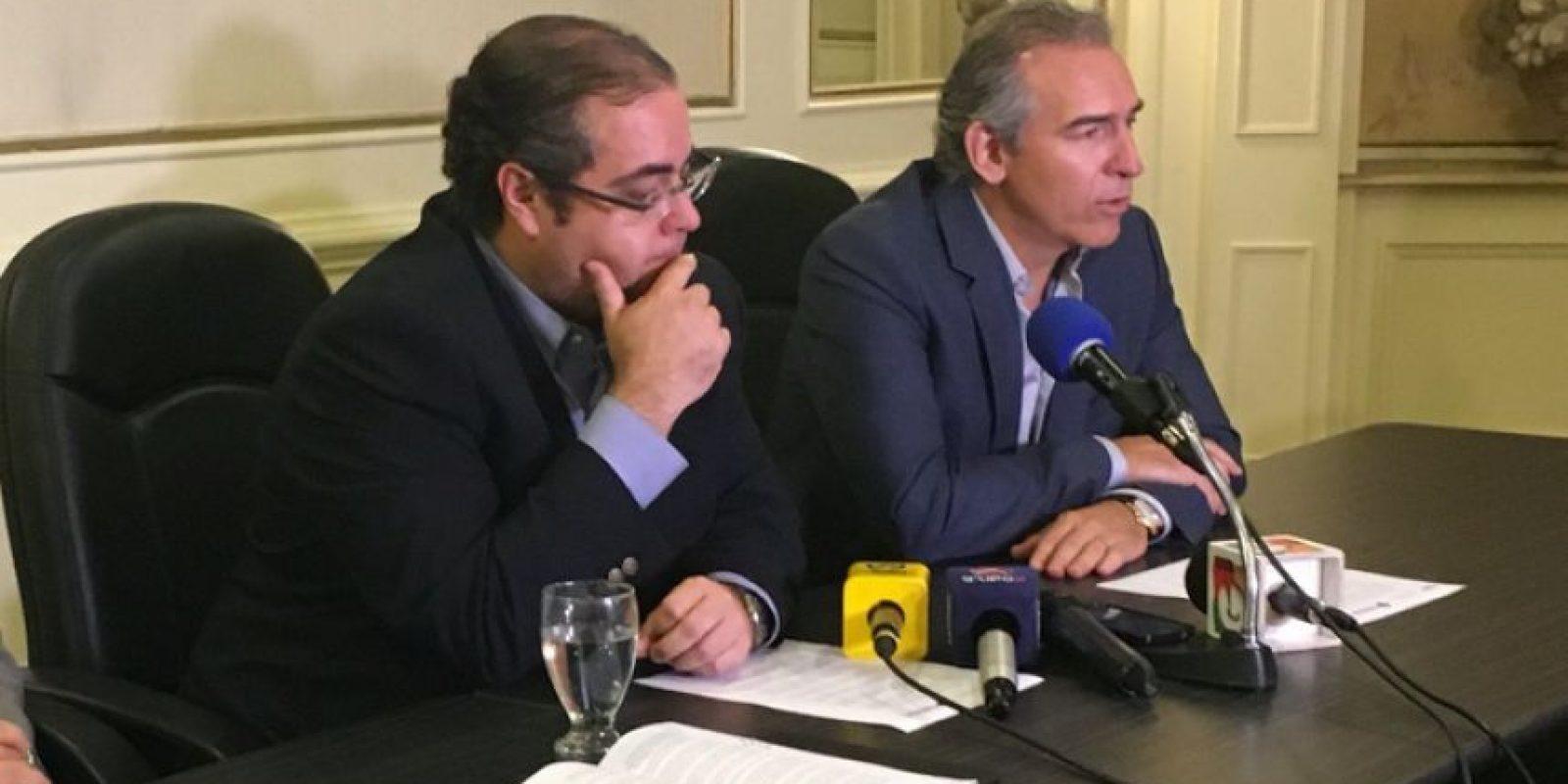 José González, presidente del Cacif junto con Felipe Bosch, de Fundesa Foto:Cacif