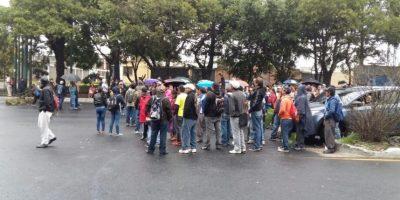 Foto:Bloqueo en Calzada Roosevelt / Municipalidad de Mixco