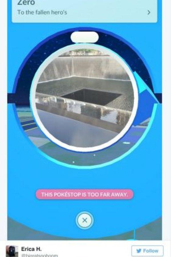 Tampoco se debería jugar en la pokéstación del memorial del 11 de septiembre de 2001 Foto:Twitter.com
