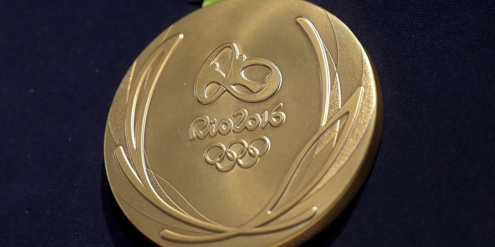 os metales fundidos de una medalla de oro tiene un valor de 587 dólares Foto:Getty Images