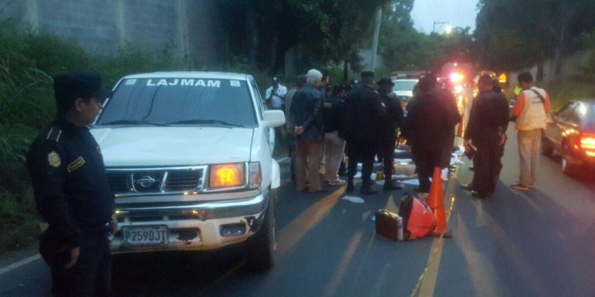 Asesinan a tres hombres en Bárcena, Villa Nueva