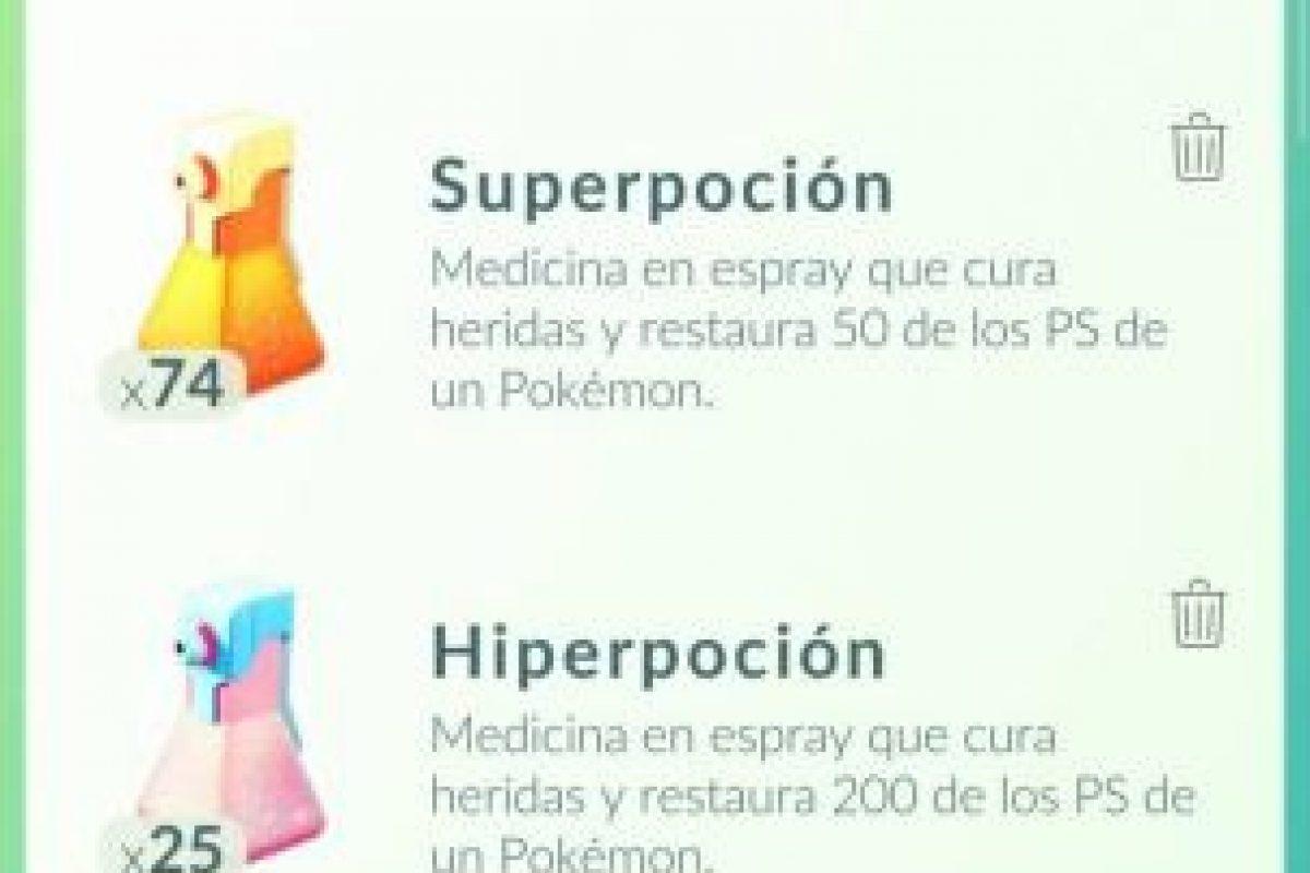 Estos son los items. Foto:Pokémon Go