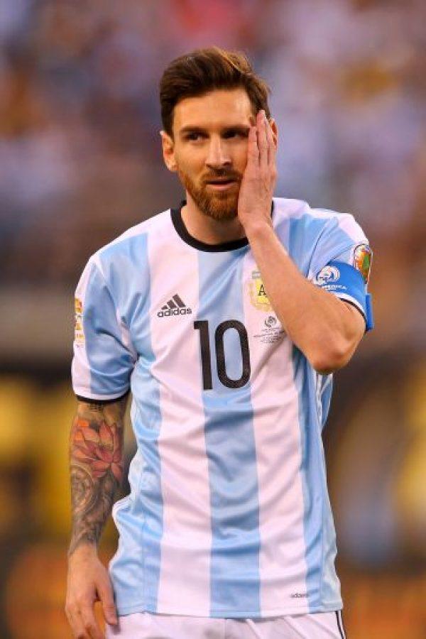Lionel Messi renunció a la Selección de Argentina, después de perder la final de la Copa América Centenario ante Chile Foto:Getty Images