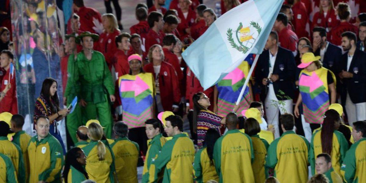 Así desfiló Guatemala en la inauguración de los Juegos Olímpicos de Rio