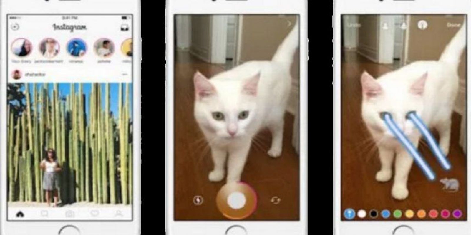 A algunos usuarios les gustó más esta nueva función que Sanapchat. Foto:Instagram
