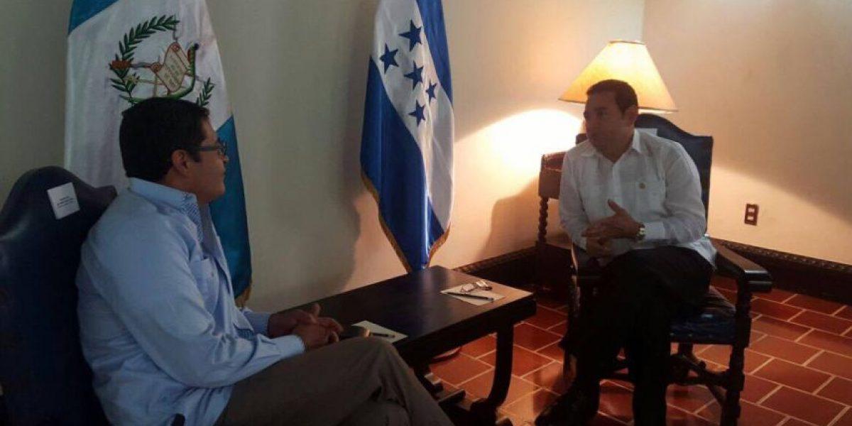 Presidente de Honduras se reúne en Guatemala con Jimmy Morales por temas de seguridad