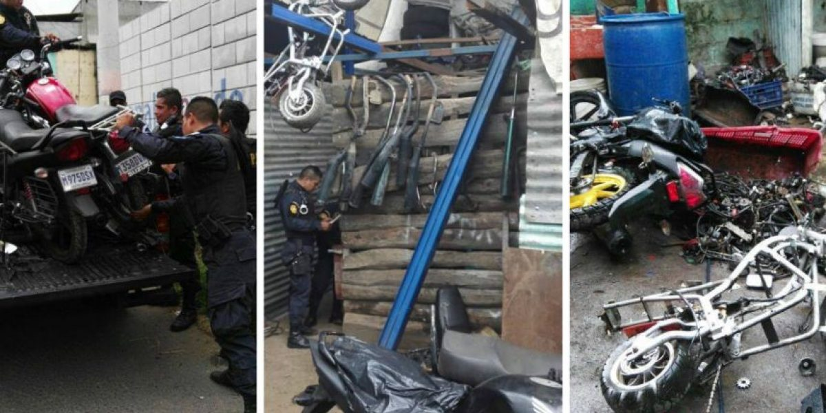 Motos con reporte de robo y accesorios se localizan en Boca del Monte