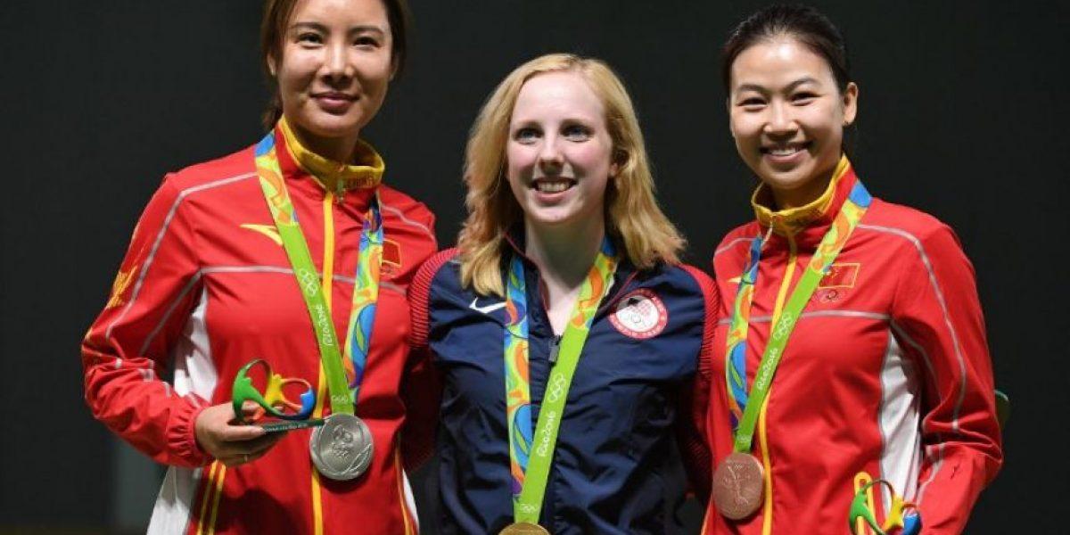 Estadounidense Virginia Thrasher consigue el primer oro en Rio 2016
