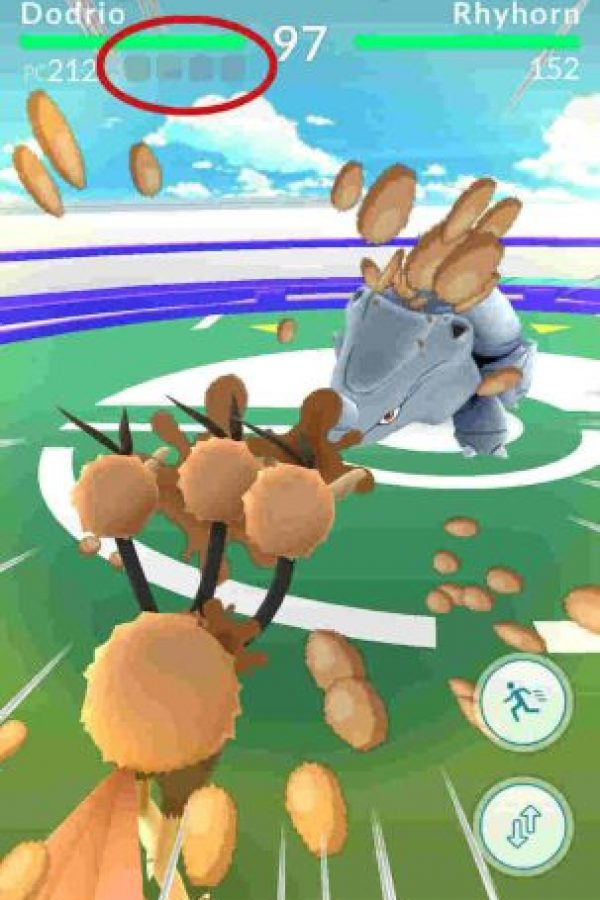 La barra de ataque especial. Foto:Pokémon Go