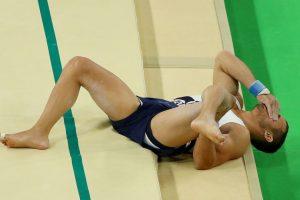 La fractura del francés Samir Ait Said Foto:Getty Images