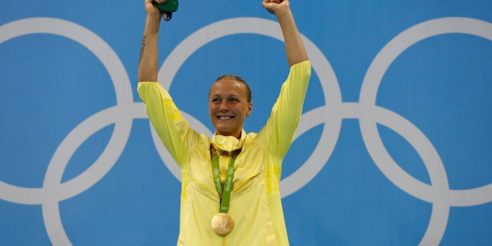Ledecky no decepcionó en la piscina y sólo compitió contra ella misma para quedarse con el oro, en los 800 metros libres Foto:Getty Images