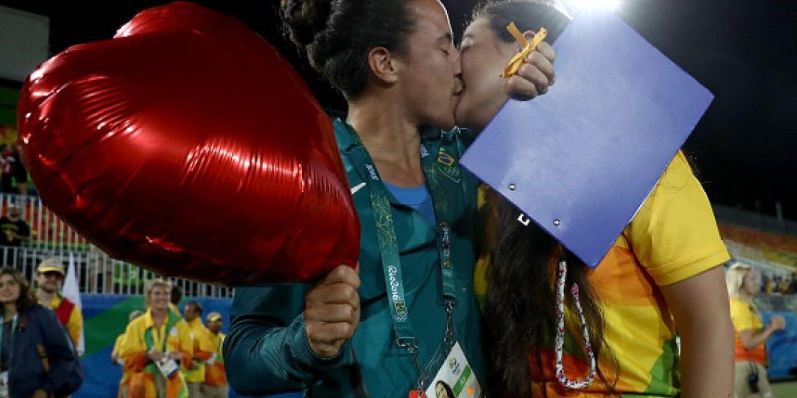 Además, hubo globos con corazones Foto:Getty Images