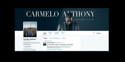 4. Carmelo Anthony (@carmeloanthony) – 8.19 millones Foto:Twitter