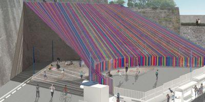 Instalarán un techo gigante de textiles en el Centro Cultural