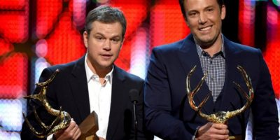 Con su amigo del alma, Matt Damon. Foto: vía Getty Images