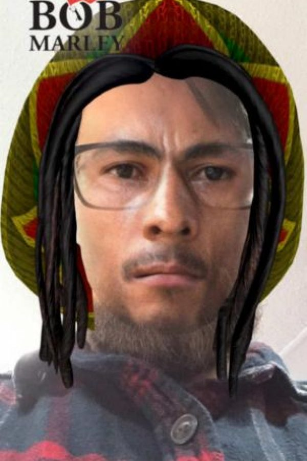 Este es el filtro de Bob Marley. Foto:Twitter/Jon Brady
