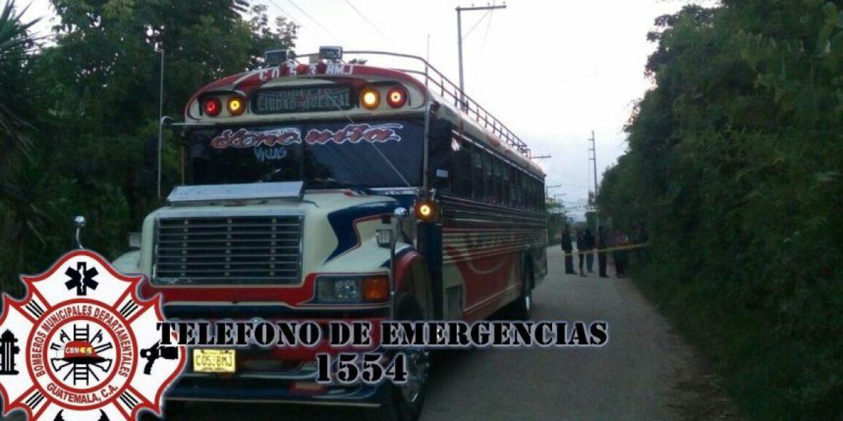 Ataque armado en interior de autobús en Ciudad Quetzal deja a piloto muerto y ayudante herido