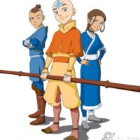 """Aang se veía así en la versión animada de """"El último maestro del aire"""". Foto:vía Nickelodeon"""