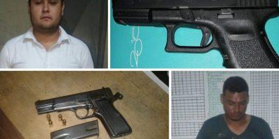 PNC realiza capturas por portación ilegal de armas de fuego