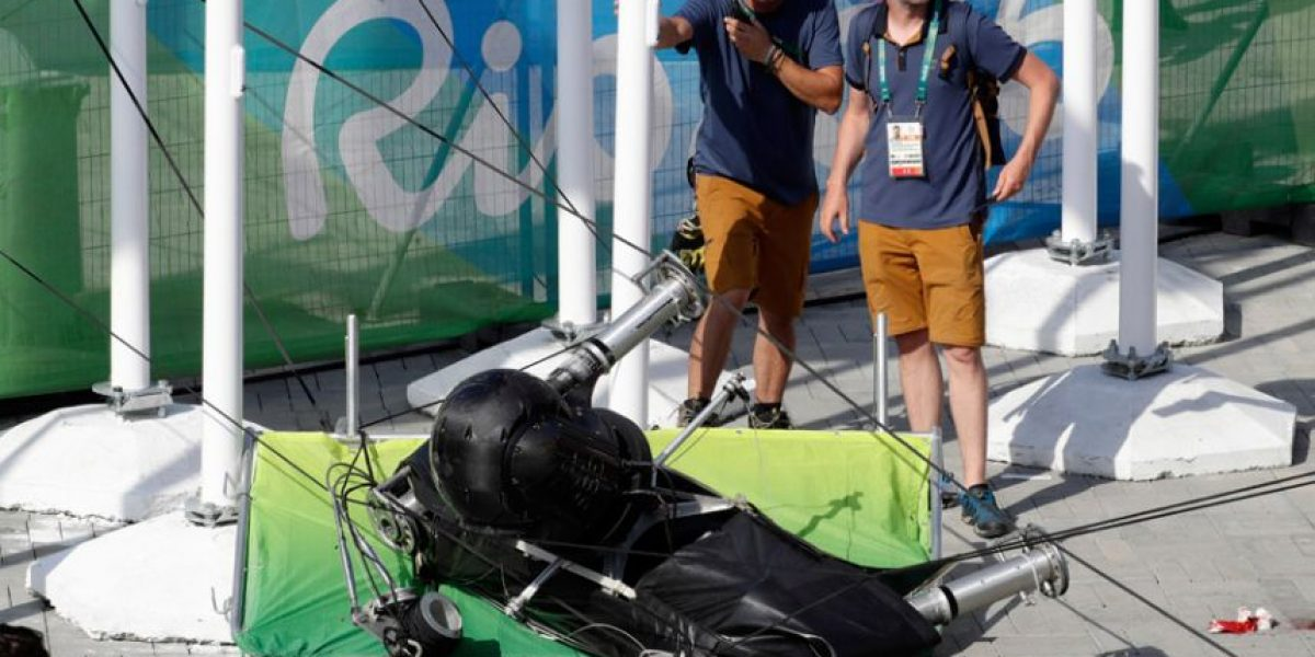 Cae cámara de Parque Olímpico de Rio de Janeiro 2016 y hiere al menos a 7 personas
