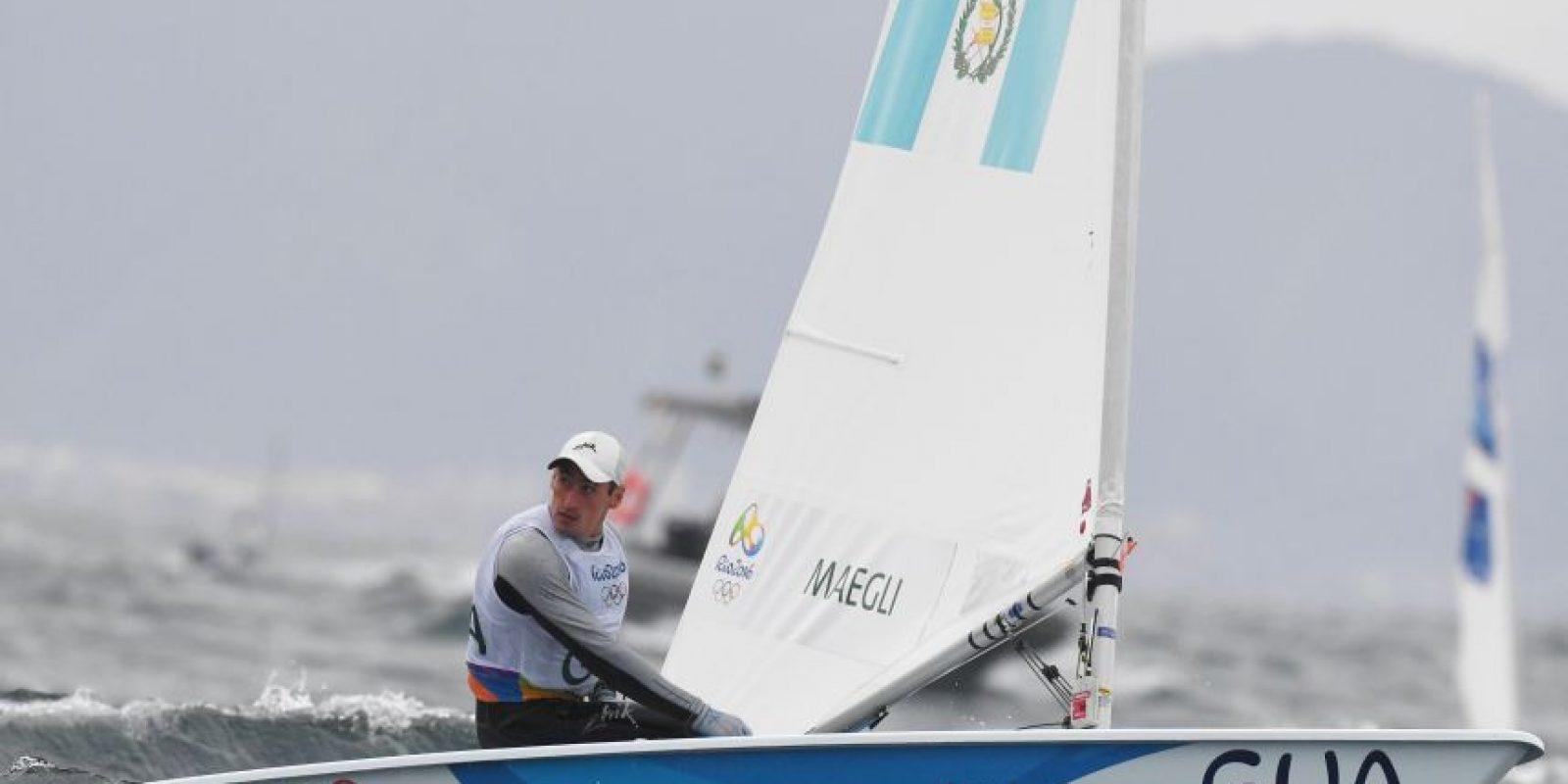 El velerista logró, hasta ahora, la mejor actuación de Guatemala en las justas olímpicas. Foto:COG