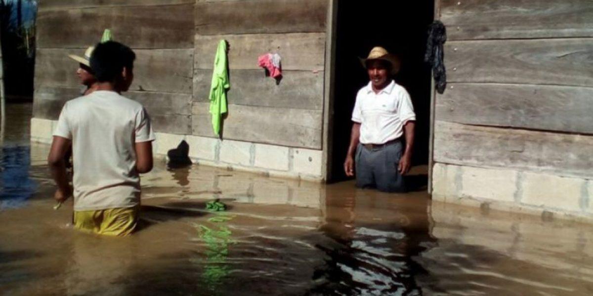 Desborde de río Polochic deja 450 personas afectadas en Panzós, Alta Verapaz