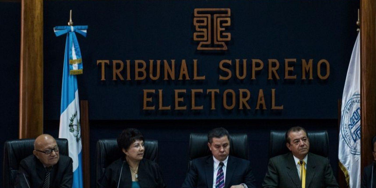 Los magistrados del TSE en conferencia de prensa Foto:Oliver de Ros