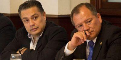Arias acompaña al jefe de bancada, Javier Hernández Foto:Facebook