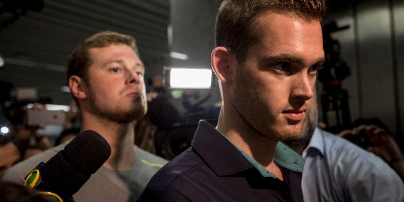 Además de Lochte, los otros implicados son Gunnar Bentze, Jack Conger y James Feigen. Foto:Getty Images