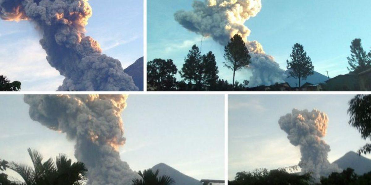 Conred mantiene monitoreo tras fuerte explosión del volcán Santiaguito