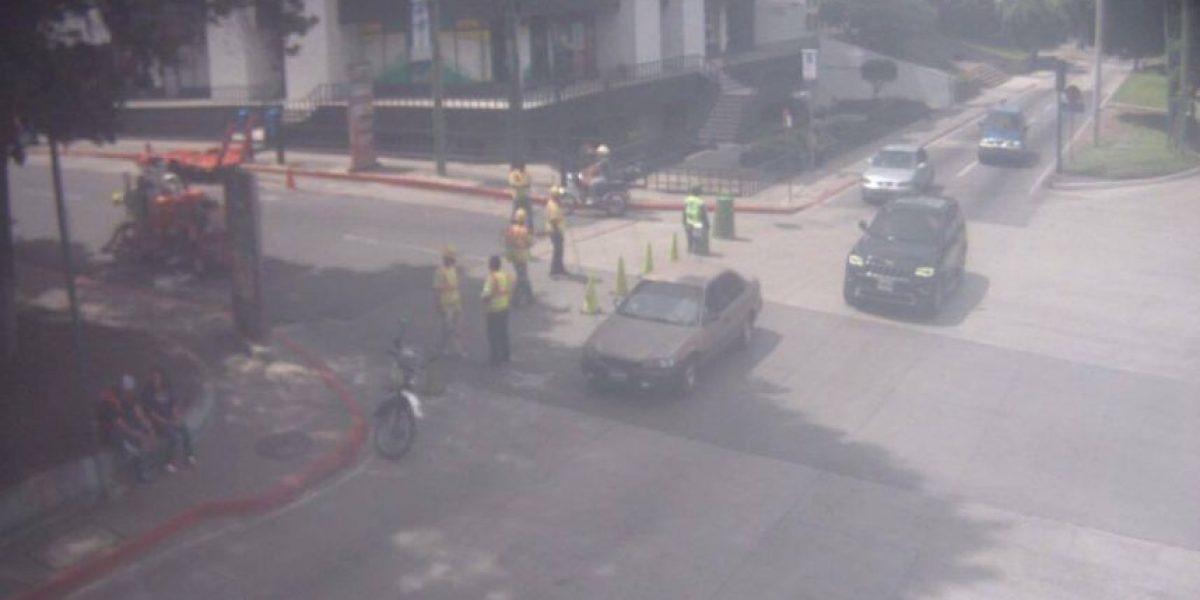 Cierran ingreso a 12 calle y Avenida Reforma por señalización horizontal