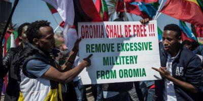 Su protesta fue en favor de la región de Oromia, en Etiopía, de donde es originario Foto:Getty Images