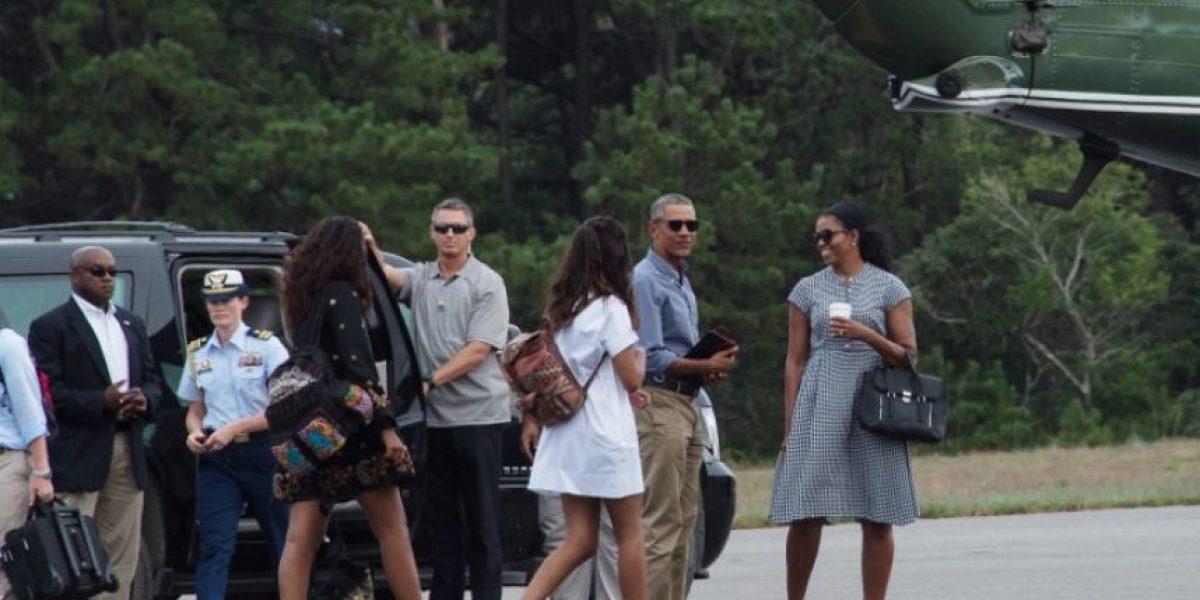 Barack Obama reaparece con su hija tras video