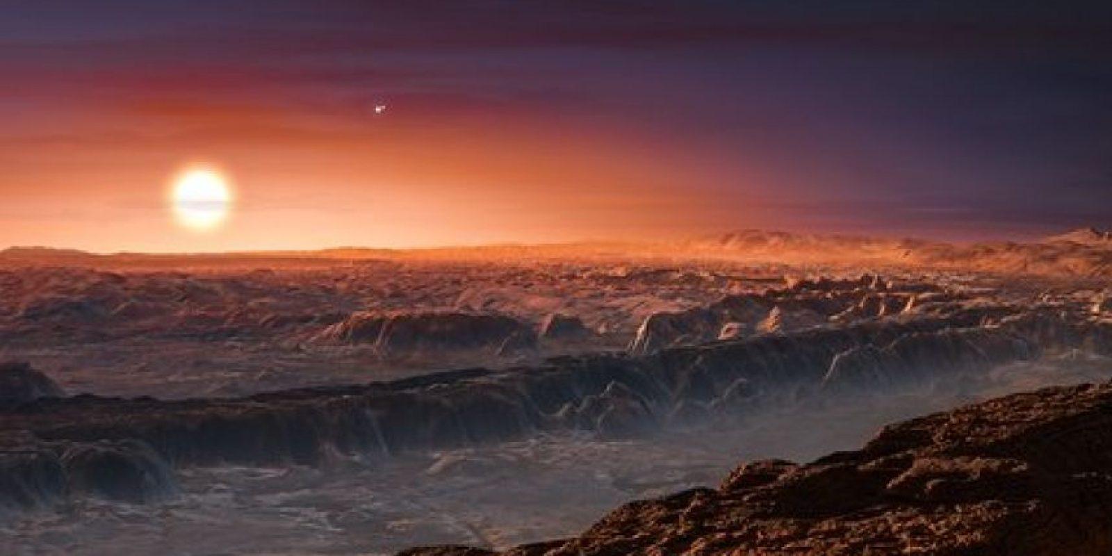 """Esta ilustración muestra cómo se vería la superficie de """"Próxima b"""" Foto:Facebook.com/palereddot"""