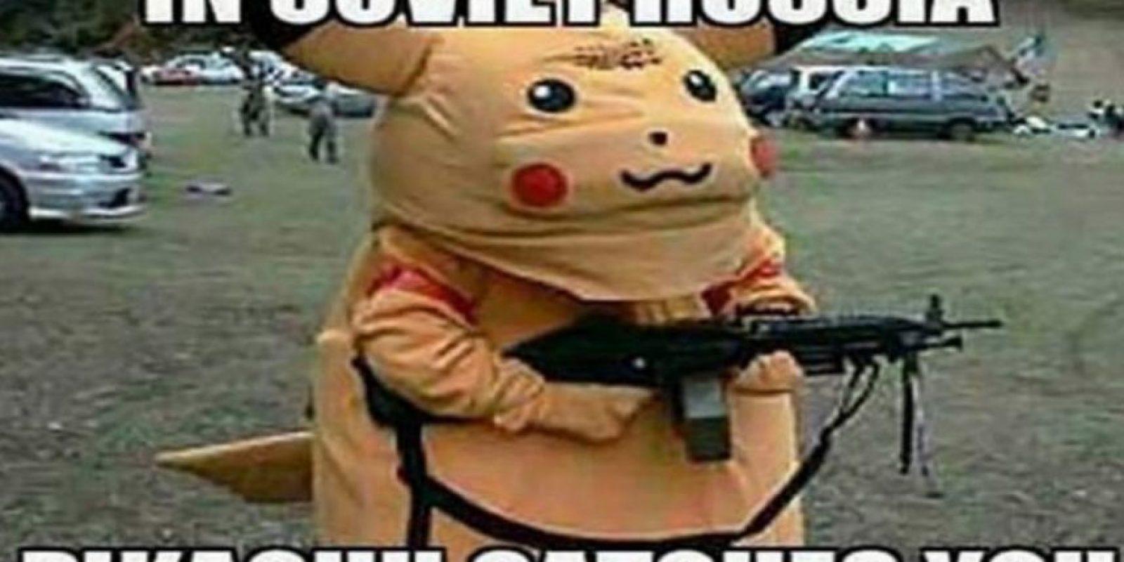 En la Rusia soviética, Pikachu te atrapa a ti. Foto:Twitter