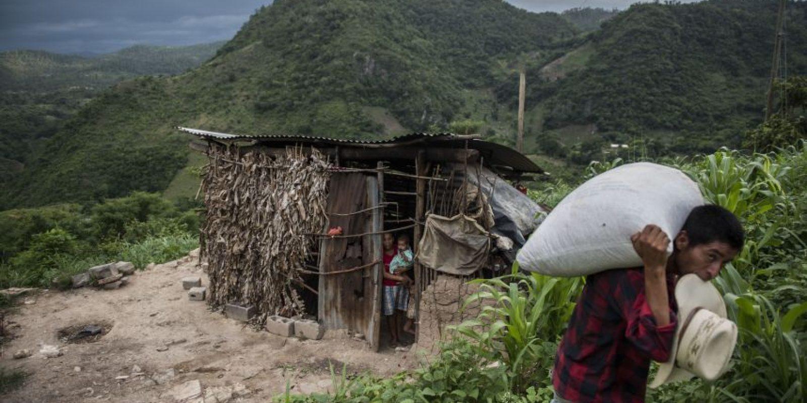 En viviendas como esta habitan hasta 8 personas en el caserío La Travesía, Shalaguá, Camotán, Chiquimula. Foto:Oliver de Ros