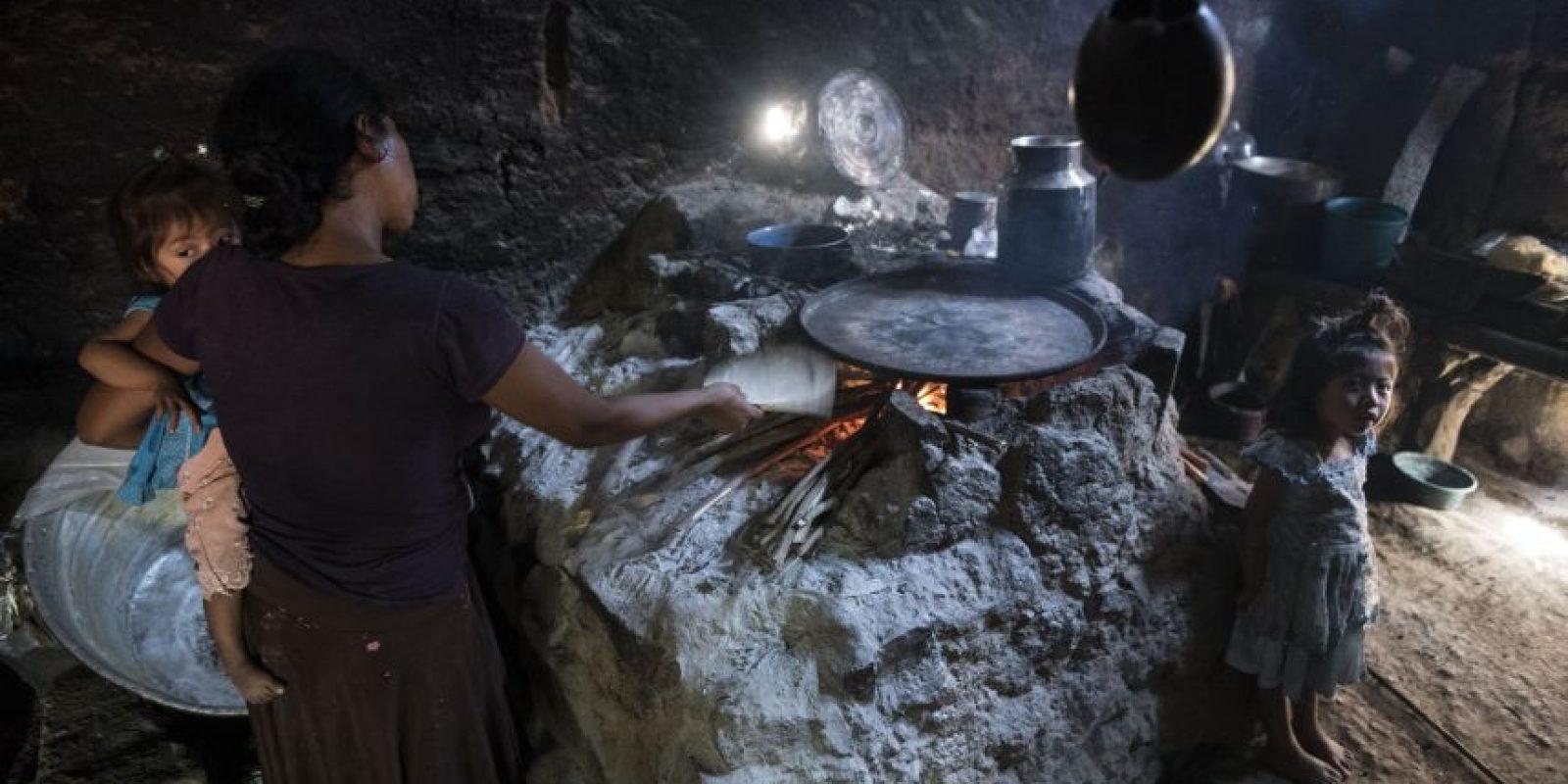 Familias pobres sobreviven en la aldea El Matasano, Jocotán. Foto:Oliver de Ros